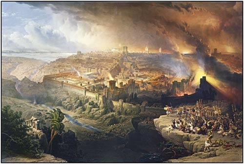 Resultado de imagen para destruccion del templo de jerusalen en el año 70